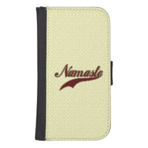 Namaste Stylish Red square spiral pattern Wallet Phone Case For Samsung Galaxy S4