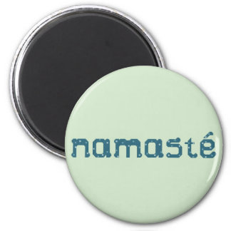 Namaste Teal Magnet