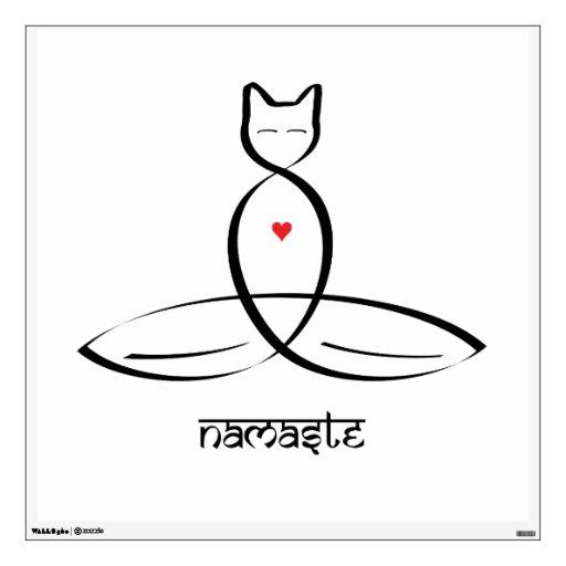 Namaste - texto sánscrito del estilo vinilo decorativo