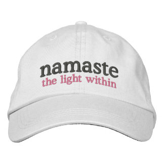 Namaste the light within embroidered baseball cap