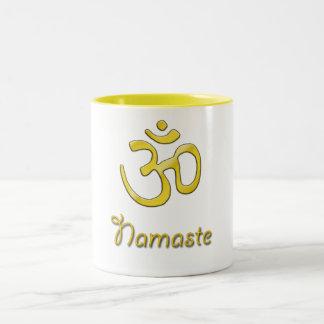 namaste Two-Tone coffee mug