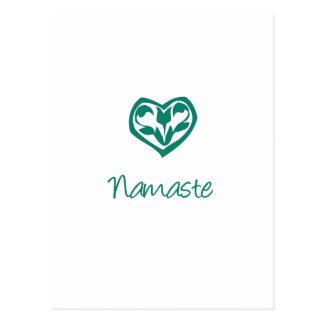Namaste verde tarjeta postal