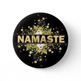 Namaste Vintage Floral button