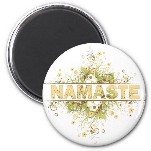 Namaste Vintage Floral Refrigerator Magnets