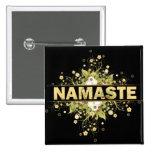 Namaste Vintage Floral Pinback Buttons