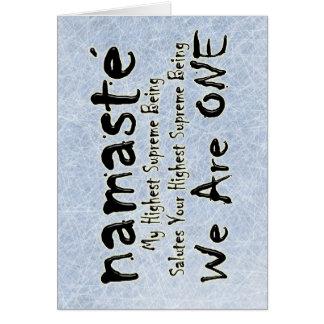 NAMASTE WE ARE ONE CARD