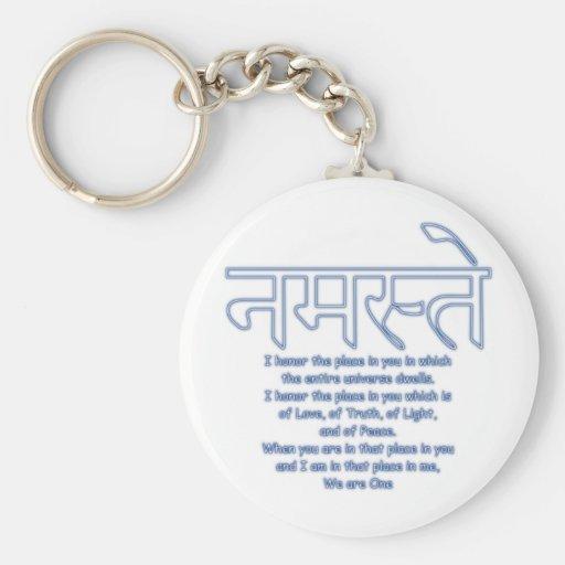 namaste we are one keychain