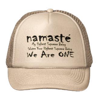 NAMASTE WE ARE ONE TRUCKER HAT