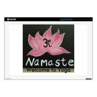"Namaste Welcome to Yoga 17"" Laptop Skins"
