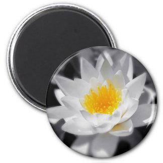 NAMASTE white lotus magnet