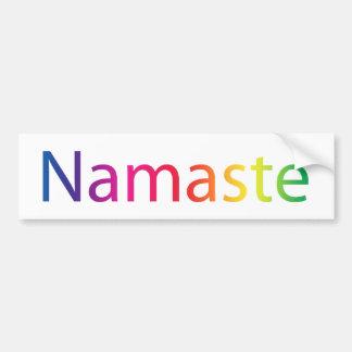 Namaste White Rainbow Bumper Sticker