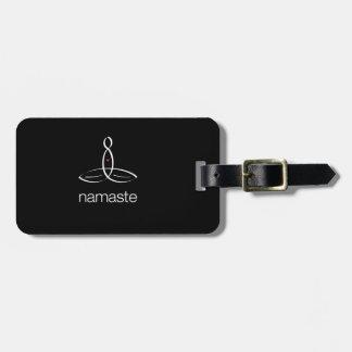Namaste - White Regular style Tag For Luggage