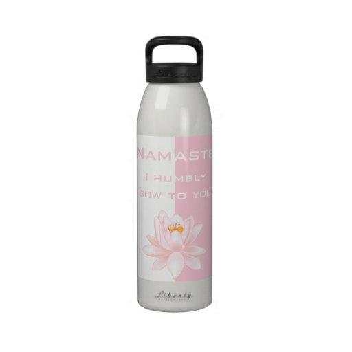 Namaste with Lotus flower Drinking Bottles