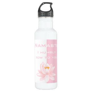Namaste with Lotus flower Water Bottle