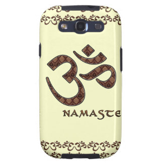 Namaste with Om Symbol Brown and Cream Galaxy SIII Case