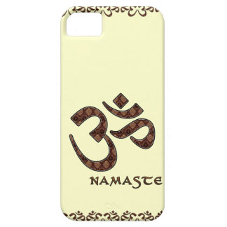 Namaste with Om Symbol Brown and Cream iPhone 5 Covers