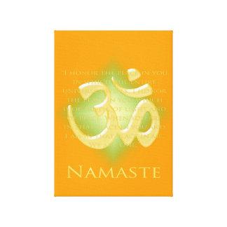 Namaste with Om symbol Canvas Prints