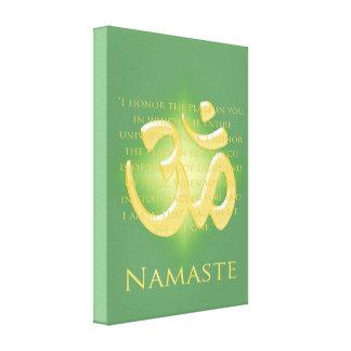 Namaste with Om symbol Canvas Print