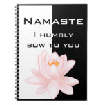 Namaste with Om symbol Note Book