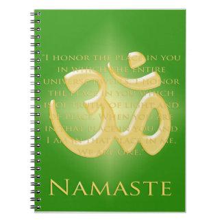 Namaste with Om symbol Spiral Notebook