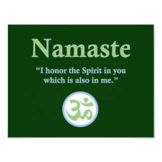Namaste - with quote and Om symbol Card