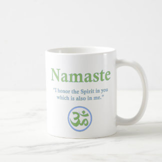 Namaste - with quote and Om symbol Coffee Mug