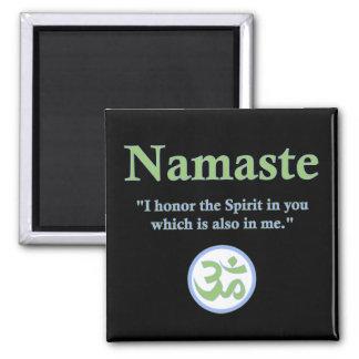 Namaste - with quote and Om symbol Fridge Magnet