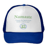 Namaste - with quote and Om symbol Mesh Hat