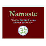 Namaste - with quote and Om symbol Postcard