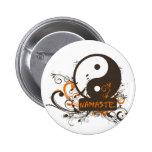 Namaste Yin Yang Buttons
