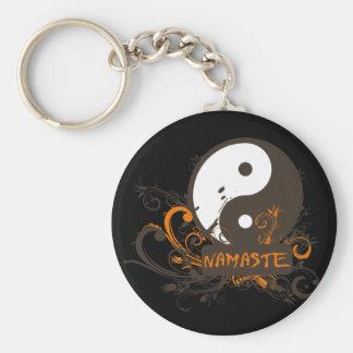 Namaste Yin Yang Keychains
