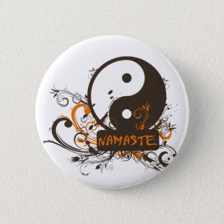 Namaste Yin Yang Pinback Button