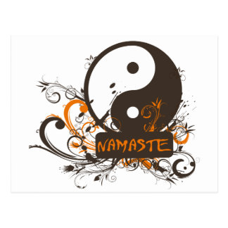 Namaste Yin Yang Tarjetas Postales