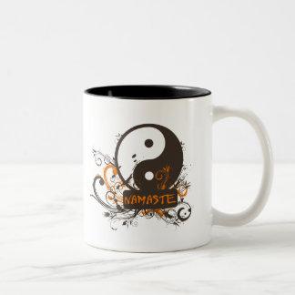 Namaste Yin Yang Two-Tone Coffee Mug