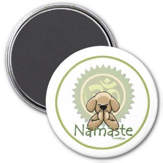 Namaste - yoga 3 inch round magnet
