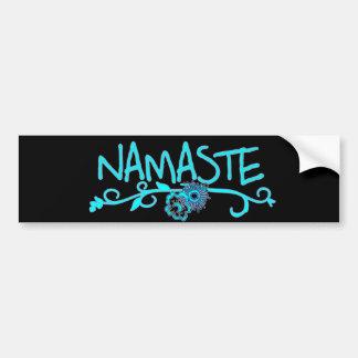 Namaste Yoga Bumper Sticker Car Bumper Sticker