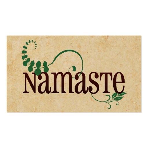 Namaste Yoga Business Card