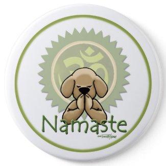 Namaste - yoga button button
