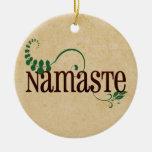 Namaste Yoga Christmas Ornaments
