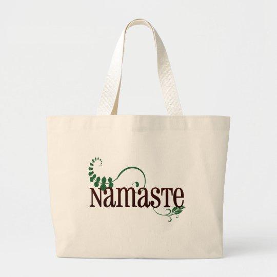 Namaste Yoga Large Tote Bag