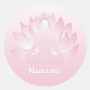 yoga pose stickers  zazzle