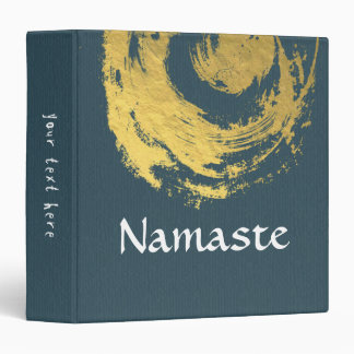 Namaste Yoga Meditation Instructor Blue Gold ZEN Binder