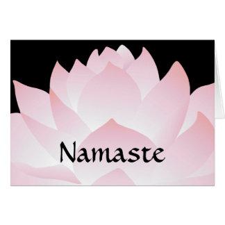 Namaste Yoga Pink Lotus Greeting Card 2