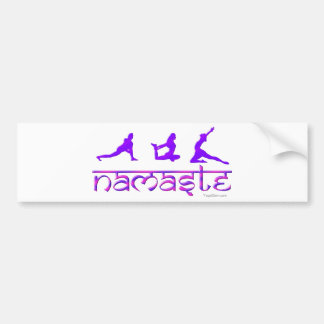 Namaste yoga poses purple bumper stickers