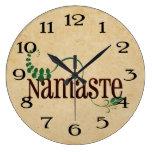 Namaste Yoga Wall Clocks