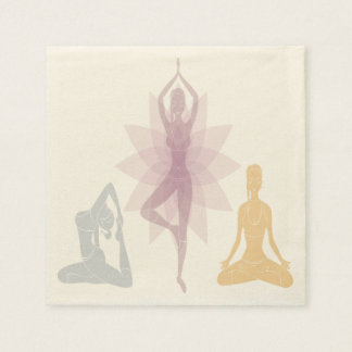 Namaste,yoga,yogi,women,chakra,chi,spiritual,zen Standard Cocktail Napkin