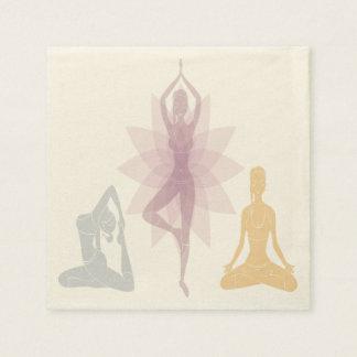 Namaste, yoga, yogui, mujeres, chakra, ji, servilleta de papel