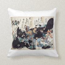 Namazu-e 2 throw pillow