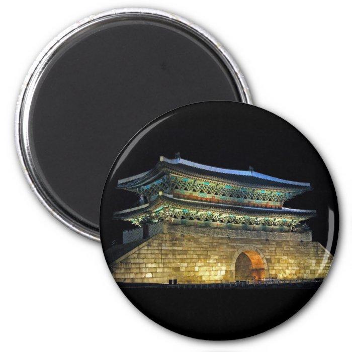 Namdaemun Gate Seoul 2 Inch Round Magnet