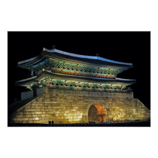 Namdaemun Gate Seoul Poster